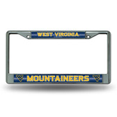 West Virginia Mountaineers Bling Chrome Frame