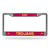 USC Trojans Bling Chrome Frame