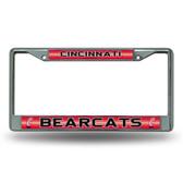 Cincinnati Bearcats Bling Chrome Frame