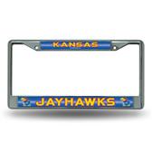 Kansas Jayhawks Bling Chrome Frame