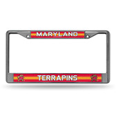 Maryland Terrapins Bling Chrome Frame