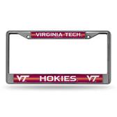 Virginia Tech Hokies Bling Chrome Frame