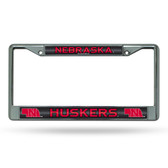 Nebraska Cornhuskers Bling Chrome Frame