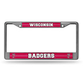 Wisconsin Badgers  Bling Chrome Frame