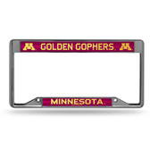 Minnesota Golden Gophers INVERTED Bling Chrome Frame