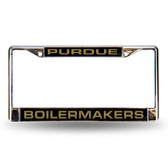 Purdue Boilermakers Black LASER Chrome Frame