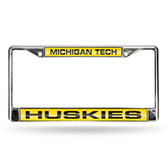 Michigan Wolverines TECH LASER Chrome Frame