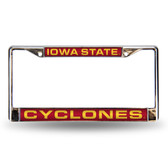 Iowa State Cyclones RED LASER Chrome Frame
