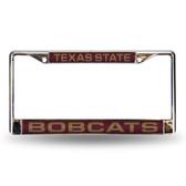 Texas Longhorns STATE LASER Chrome Frame