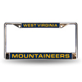 West Virginia Mountaineers BLUE LASER Chrome Frame