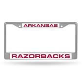 Arkansas Razorbacks  LASER Chrome Frame