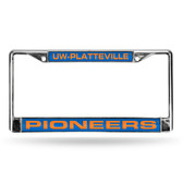 Wisconsin Badgers  PLATTEVILLE FCL LICENSE PLATE FRAME (CHROME LASER)