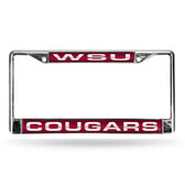 Washington State Cougars RED LASER Chrome Frame