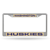 Washington Huskies LASER Chrome Frame