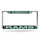 Colorado State Rams GREEN LASER Chrome Frame