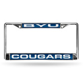 BYU Cougars BLUE LASER Chrome Frame