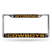 Wyoming Cowboys BROWN LASER Chrome Frame