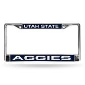 Utah Utes STATE LASER Chrome Frame