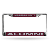 Mississippi State Bulldogs ALUMNI RED LASER Chrome Frame