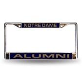 Notre Dame Fighting Irish ALUMNI LASER Chrome Frame