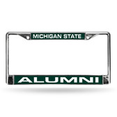 Michigan State Spartans ALUMNI GREEN LASER Chrome Frame