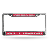 Wisconsin Badgers  ALUMNI LASER Chrome Frame