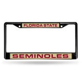 Florida State Seminoles BLACK LASER Chrome Frame
