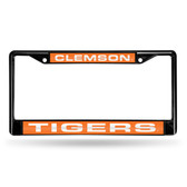 Clemson Tigers BLACK LASER Chrome Frame