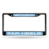 North Carolina Tar Heels BLACK LASER Chrome Frame