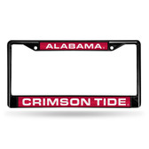 Alabama Crimson Tide BLACK LASER Chrome Frame
