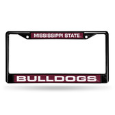Mississippi State Bulldogs BLACK LASER Chrome Frame