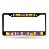 LSU Tigers BLACK LASER Chrome Frame