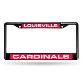 Louisville Cardinals BLACK LASER Chrome Frame