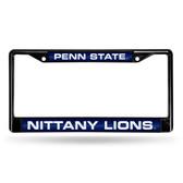 Penn State Nittany Lions BLACK LASER Chrome Frame