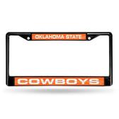 Oklahoma State Cowboys BLACK LASER Chrome Frame