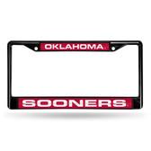 Oklahoma Sooners BLACK LASER Chrome Frame