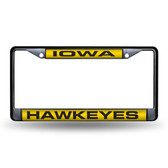 Iowa Hawkeyes  BLACK LASER Chrome Frame
