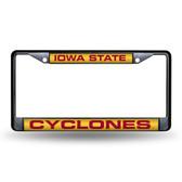 Iowa State Cyclones BLACK LASER Chrome Frame