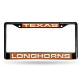 Texas Longhorns BLACK LASER Chrome Frame