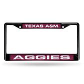 Texas A&M Aggies BLACK LASER Chrome Frame