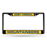 West Virginia Mountaineers BLACK LASER Chrome Frame