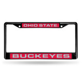 Ohio State Buckeyes BLACK LASER Chrome Frame