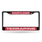 Maryland Terrapins BLACK LASER Chrome Frame