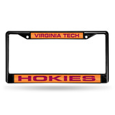 Virginia Tech Hokies BLACK LASER Chrome Frame
