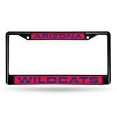 Arizona Wildcats BLACK LASER Chrome Frame