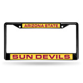 Arizona Wildcats State Sun Devils BLACK LASER Chrome Frame
