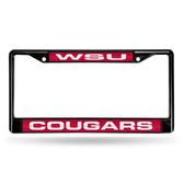 Washington State Cougars BLACK LASER Chrome Frame