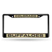 Colorado Buffaloes  BLACK LASER Chrome Frame