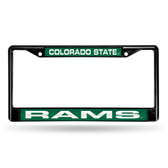 Colorado State Rams BLACK LASER Chrome Frame