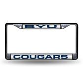 BYU Cougars BLACK LASER Chrome Frame